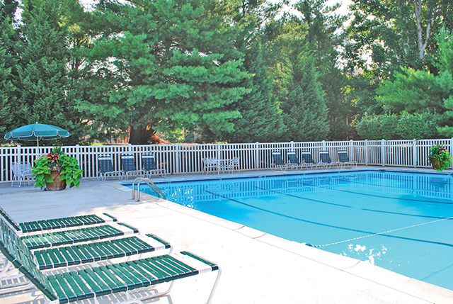 Kids love the pool at Foxchase apartments
