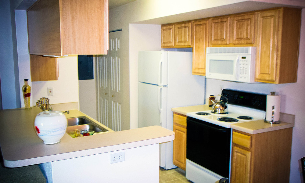 Apartments in Lansing have spacious kitchens