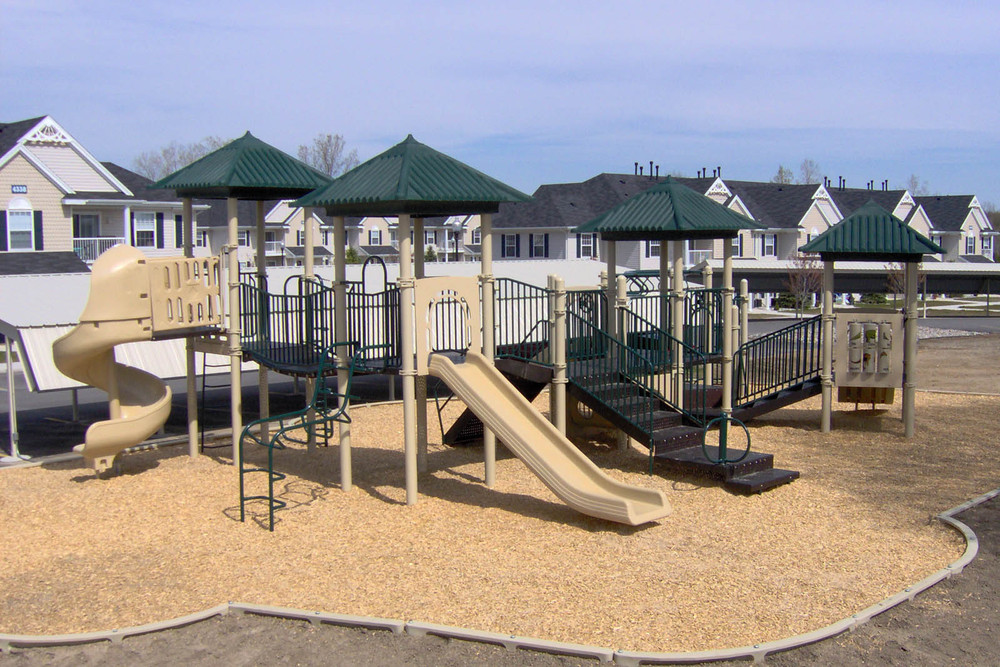Childrens playground at Lansing apartment