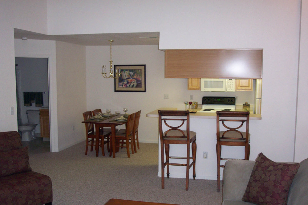 Lansing apartments have both a kitchen and dining room