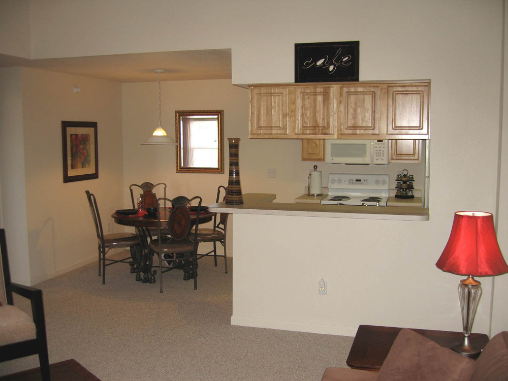 Open floor plans are available at apartments in Lansing