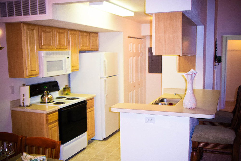 Spacious kitchens make cooking easy at apartments in Lansing