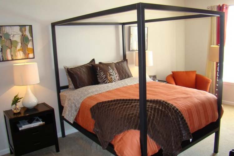 Spacious bedroom at apartments in Fayetteville