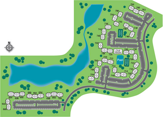Lakehaven Apartments in Carol Stream site plan.