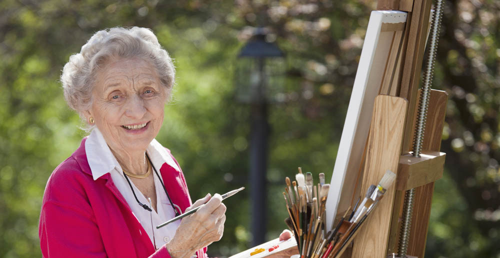 Artist at senior independent living in Kent