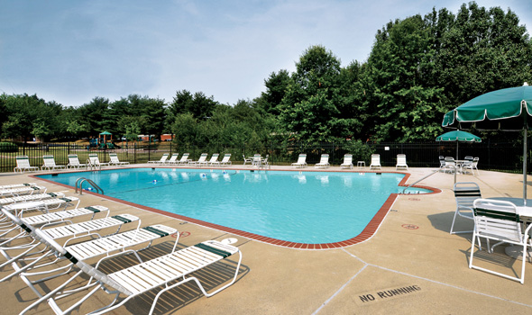 Amenities at Fairfax apartments include a swimming pool.