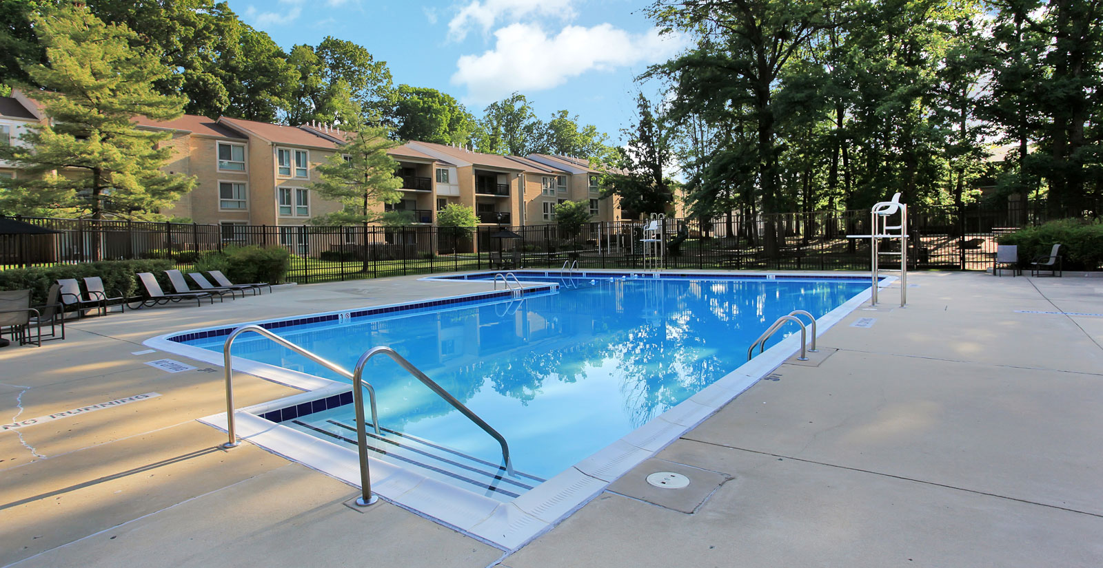 Swimming pool at Gaithersburg apartments