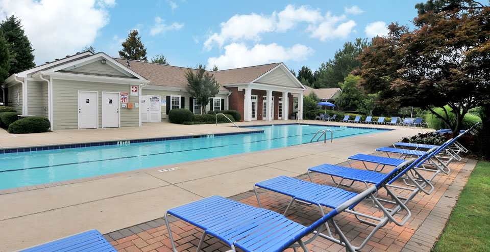 Swimming pool at apartments in Acworth