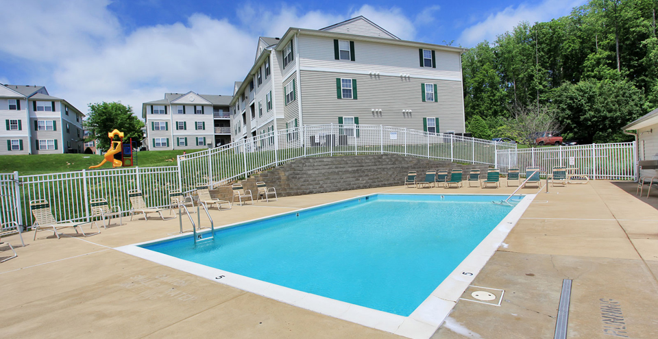 Fredericksburg apartments have an outdoor pool and playground
