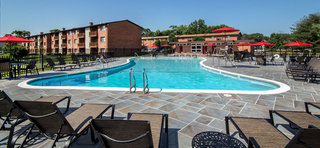 Swimming pool and sun deck at Alexandria apartments