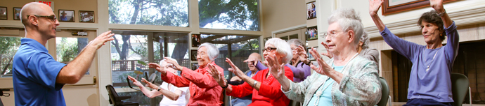 Resident activities at Los Altos senior living