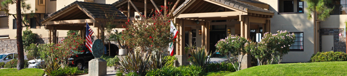 Beautiful exterior at senior living in Escondido