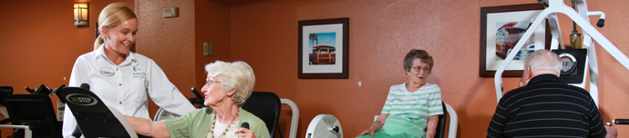 Fitness center at senior living in Escondido