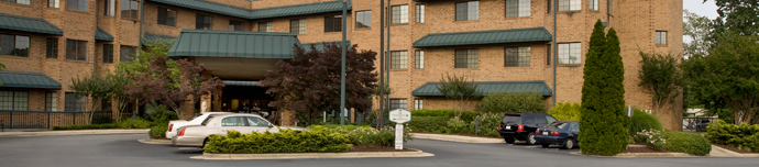 Beautiful exterior of senior living in Greensboro