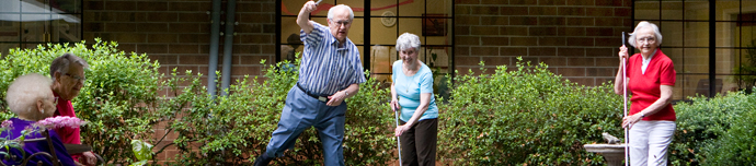 Resident activities at Greensboro senior living