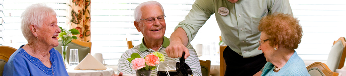 Fine dining at Winston-Salem senior living
