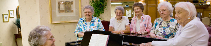 Happy residents at senior living in Winston-Salem