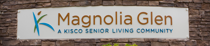Entry sign at senior living in Raleigh