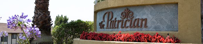 Entry sign at senior living in San Diego