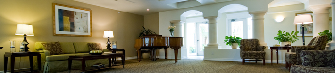 Spacious design of San Diego senior living