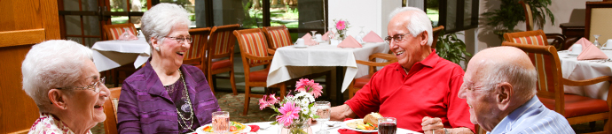 Fine dining at Fresno senior living