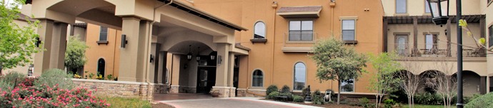 Beautiful exterior of San Antonio senior living
