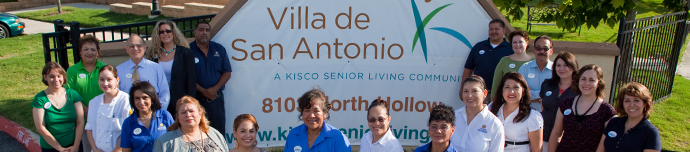 Entry sign at San Antonio senior living