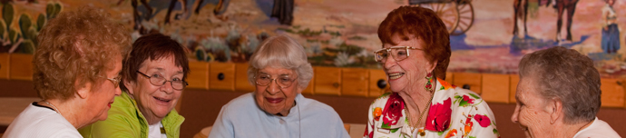 Happy residents at senior living in San Antonio