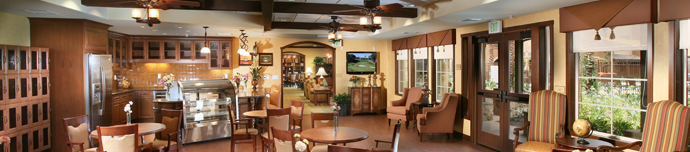 Bistro at senior living in Corona