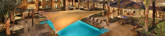 Luxury pool at senior living in Corona