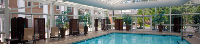 Luxury pool at Cary senior living