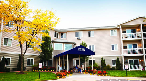 American house assisted living building in southfield