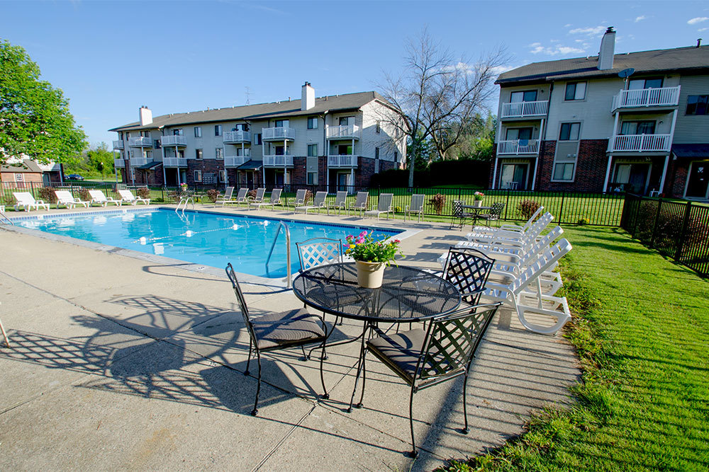 pool at apartments in Kentwood