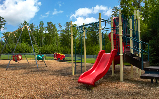 Safe playground at Chester apartments