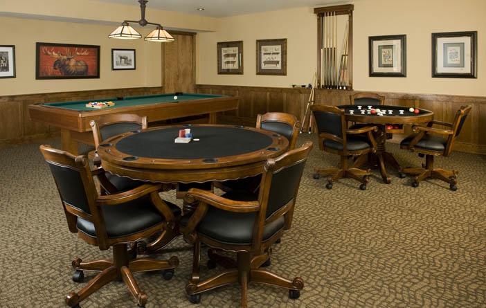 Bozeman senior living billiards room