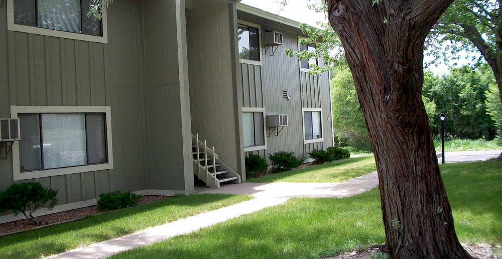 Apartments in canon city surrounded by trees