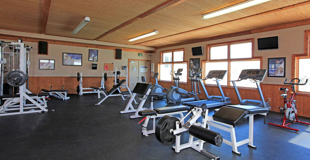 Work out in the fitness center fort collins apartments