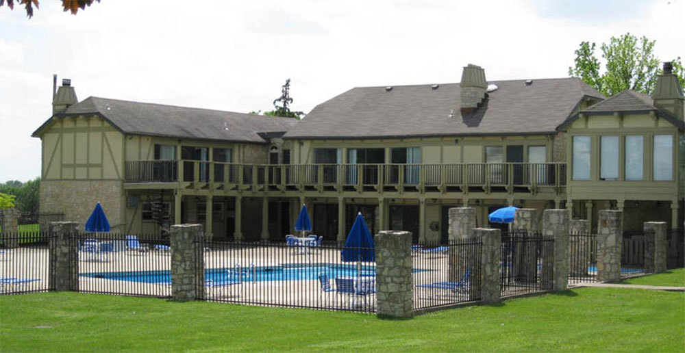 Swimming pool at apartments in dayton