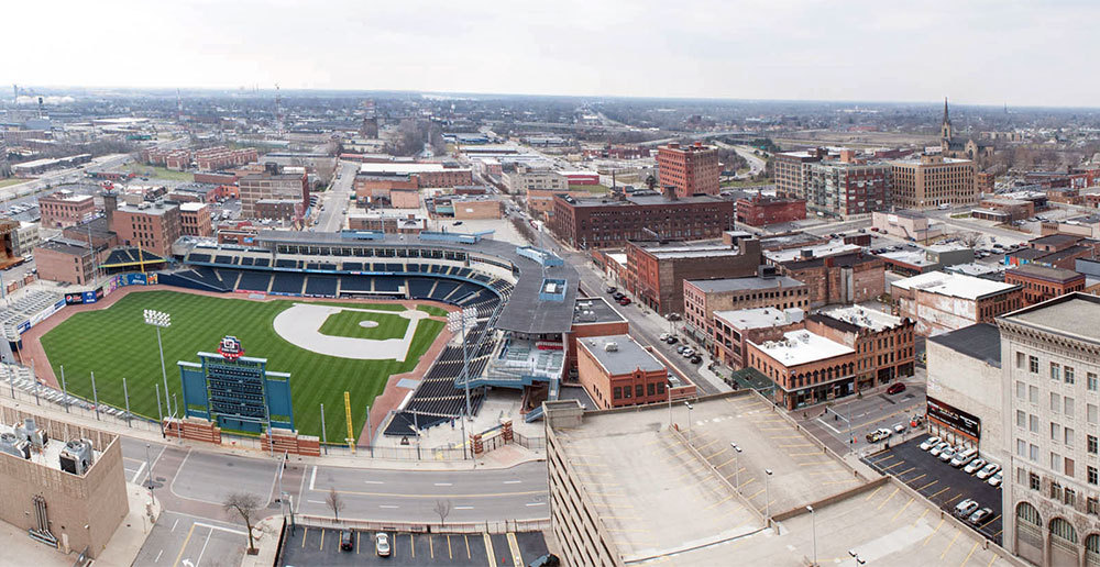 Aerial view mudhens field
