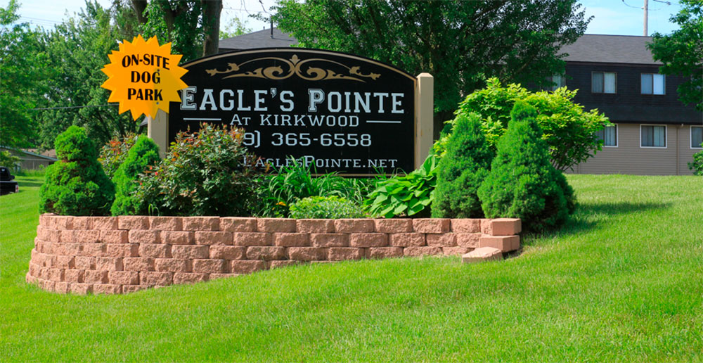 Eagles point welcome sign