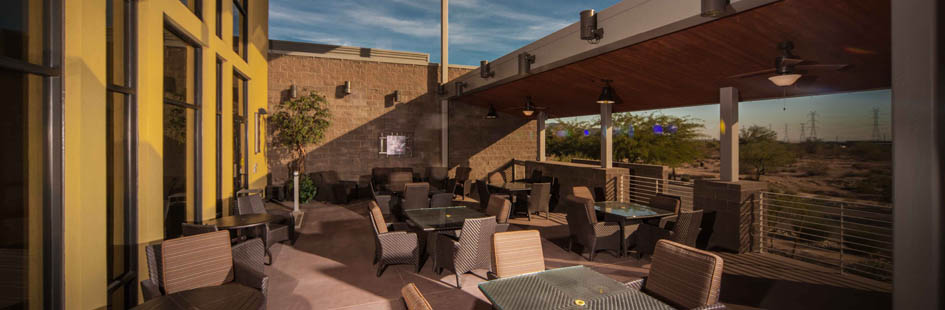 Open patio at senior living in Scottsdale AZ