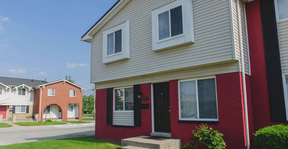 Colorful romulus townhomes