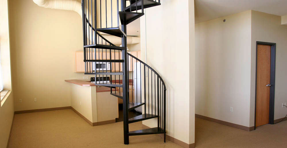 Modern spiral staircase cleveland apartments