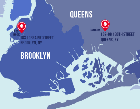 New York locations map