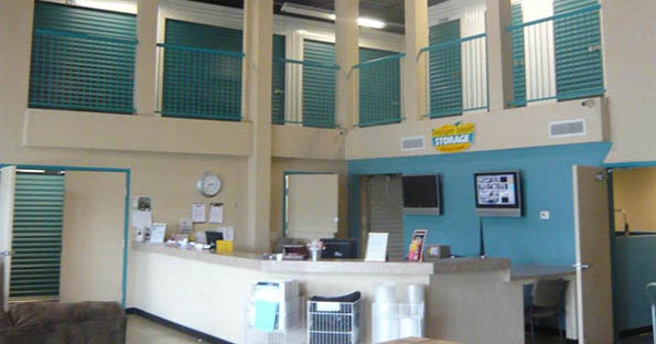 Interior of self storage units in Cherry Hill