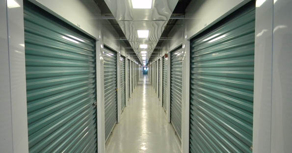 Interior of Lakewood self storage units