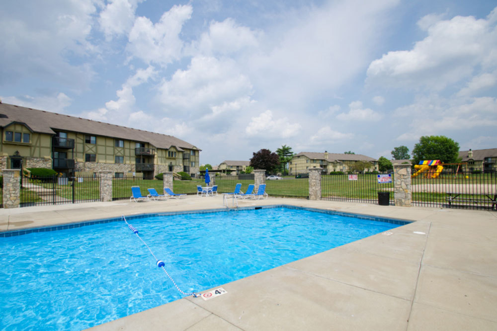 Pool at apartments in dayton