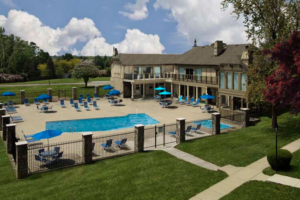 Apartments in dayton swimming pool and sundeck