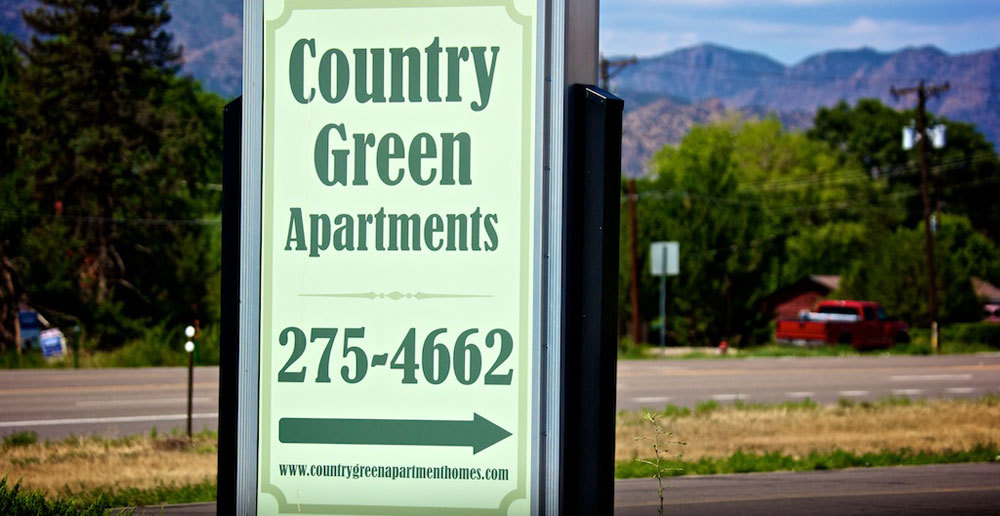 Canon City apartments entry sign