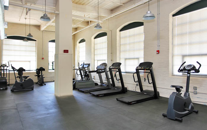 Loft apartment fitness center